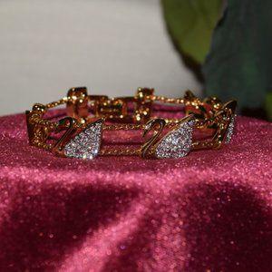 Swarovski Swan Retired Bracelet Signed Vintage
